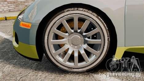 Bugatti Veyron Gold Centenaire 2009 для GTA 4 вид сзади