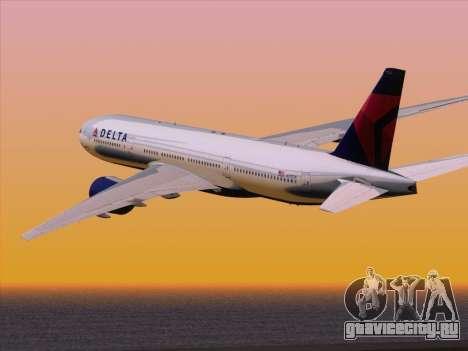 Boeing 777-200ER Delta Air Lines для GTA San Andreas вид сбоку