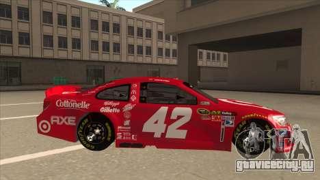 Chevrolet SS NASCAR No. 42 Clorox для GTA San Andreas вид сзади слева