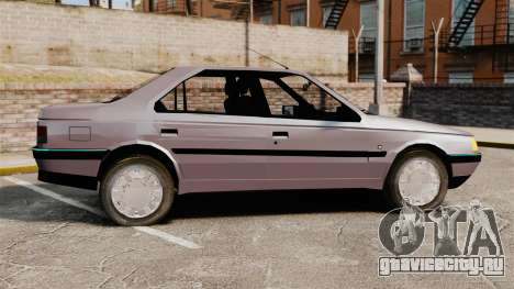 Peugeot 405 GLX для GTA 4 вид слева