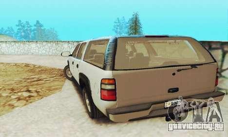 Chevrolet Suburban SAPD FBI для GTA San Andreas вид сзади