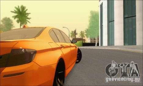 BMW M5 Vossen для GTA San Andreas вид справа