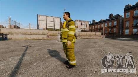 Жёлтая униформа у пожарников для GTA 4 второй скриншот