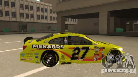 Chevrolet SS NASCAR No. 27 Menards для GTA San Andreas вид сзади слева