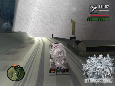 Новогодний спидометр для GTA San Andreas пятый скриншот