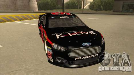 Ford Fusion NASCAR No. 98 K-LOVE для GTA San Andreas вид слева