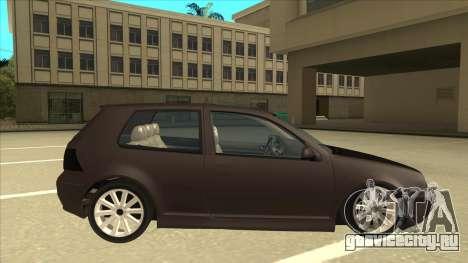 VW Golf 4 Tuned для GTA San Andreas вид сзади слева
