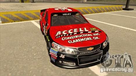 Chevrolet SS NASCAR No. 36 Accell для GTA San Andreas вид слева