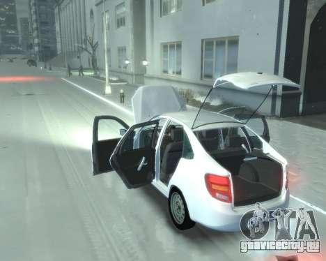 Lada Granta Hatch - VAZ 2191 для GTA 4 вид справа