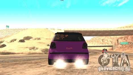 Volkswagen German Polo для GTA San Andreas вид сзади слева
