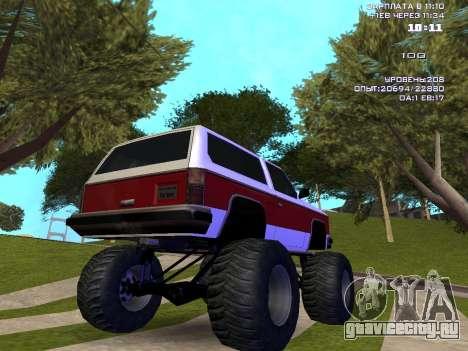 Rancher Monster для GTA San Andreas вид сзади слева