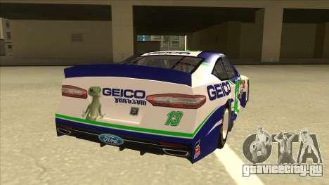 Ford Fusion NASCAR No. 13 GEICO для GTA San Andreas вид справа