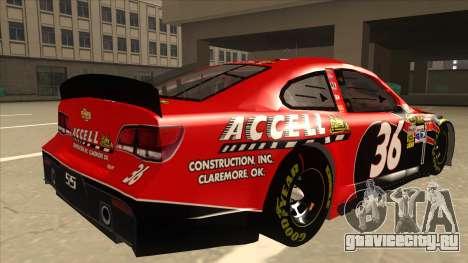 Chevrolet SS NASCAR No. 36 Accell для GTA San Andreas вид справа