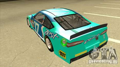 Ford Fusion NASCAR No. 17 Zest Nationwide для GTA San Andreas вид сзади