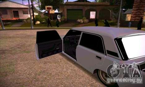 ВАЗ 2107 Сток Посаженная для GTA San Andreas вид сзади