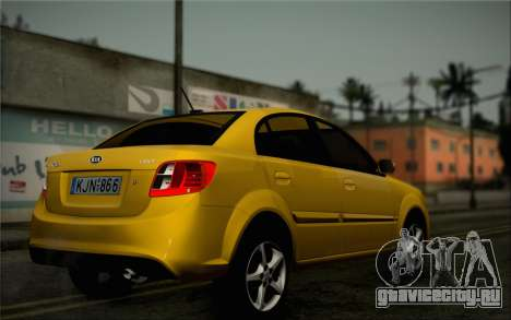 Kia Rio II 2009 для GTA San Andreas вид сзади