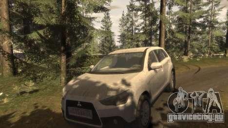 Mitsubishi ASX 2010 для GTA 4 вид сверху