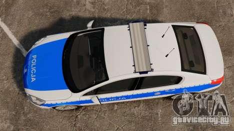 Peugeot 508 Polish Police [ELS] для GTA 4 вид справа