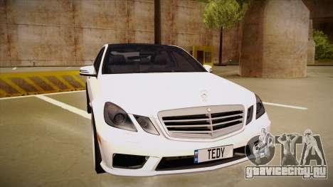 Mercedes-Benz E63 6.3 AMG Tedy для GTA San Andreas вид слева