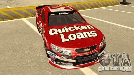 Chevrolet SS NASCAR No. 39 Quicken Loans для GTA San Andreas вид слева