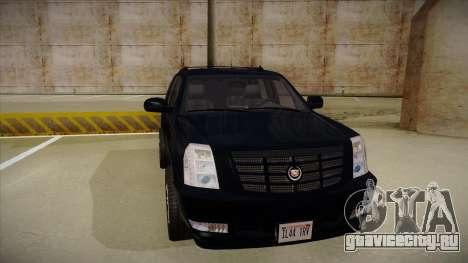Cadillac Escalade 2011 Unmarked FBI для GTA San Andreas вид слева