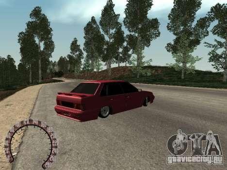 ВАЗ 2115 БПАN для GTA San Andreas вид сзади слева