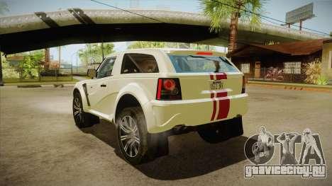 Bowler EXR S 2012 HQLM для GTA San Andreas вид сзади слева