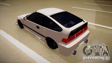 Honda CRX JDM Style для GTA San Andreas вид сзади