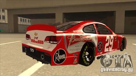Chevrolet SS NASCAR No. 29 Budweiser для GTA San Andreas вид справа