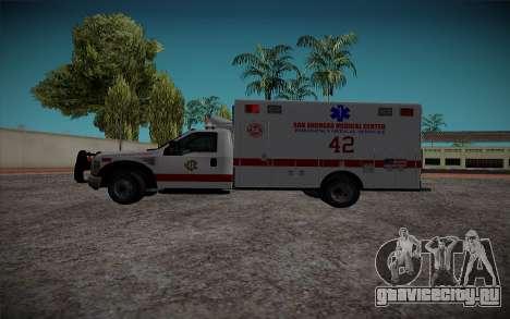 Ford F350 Super Duty San Andreas Emerency Medica для GTA San Andreas вид слева