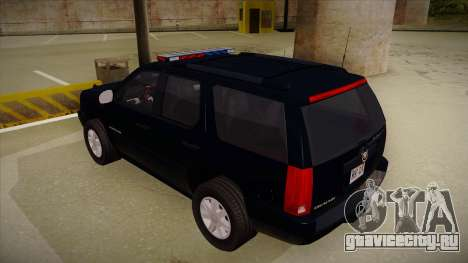 Cadillac Escalade 2011 FBI для GTA San Andreas вид сзади
