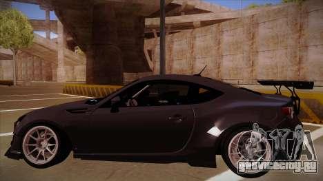 Subaru BRZ Rocket Bunny для GTA San Andreas вид справа