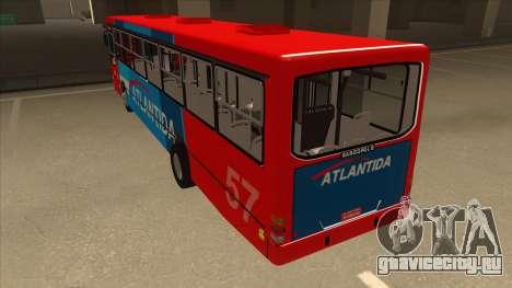 Marcopolo Torino G6 Linea 57 Atlantida для GTA San Andreas вид сзади