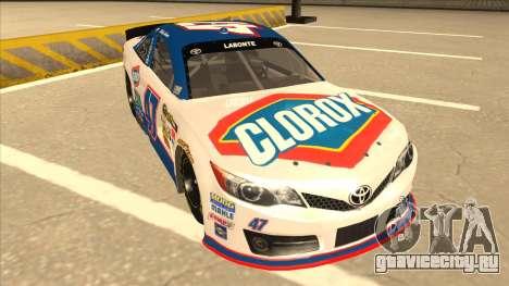 Toyota Camry NASCAR No. 47 Clorox для GTA San Andreas вид слева