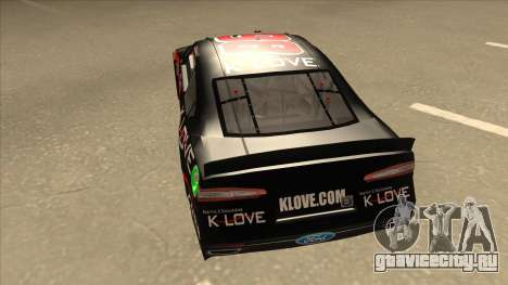 Ford Fusion NASCAR No. 98 K-LOVE для GTA San Andreas вид сзади