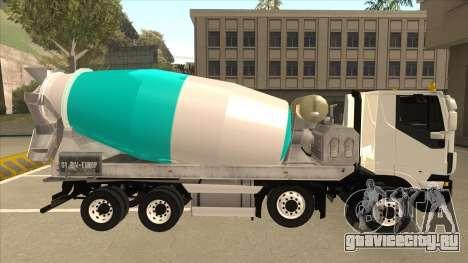 Iveco Hi-Land Автобетоносмеситель для GTA San Andreas вид сзади слева