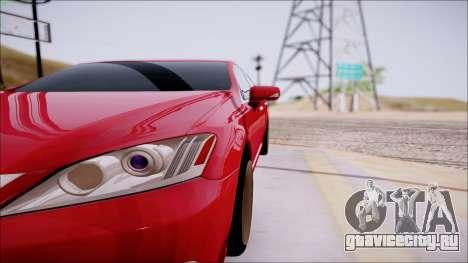 Lexus ES350 2010 для GTA San Andreas вид сбоку