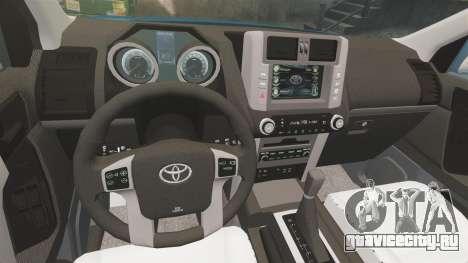 Toyota Land Cruiser Prado 150 для GTA 4 вид сбоку