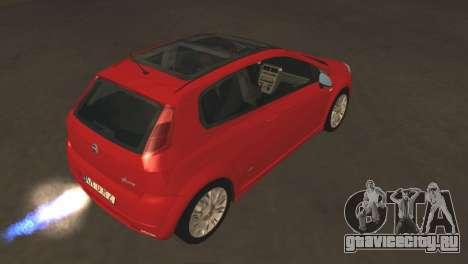 Fiat Grande Punto для GTA San Andreas вид сзади