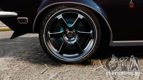 Shelby GT500 для GTA 4 вид сзади