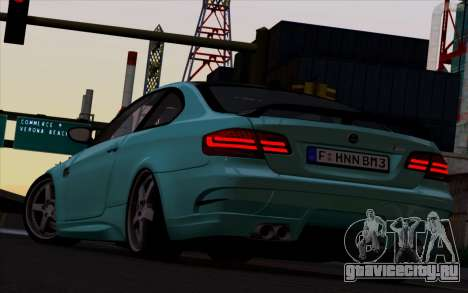 BMW M3 Hamann для GTA San Andreas вид сзади слева
