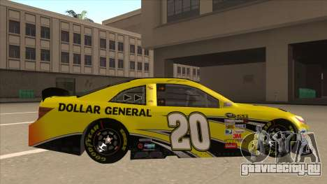 Toyota Camry NASCAR No. 20 Dollar General для GTA San Andreas вид сзади слева