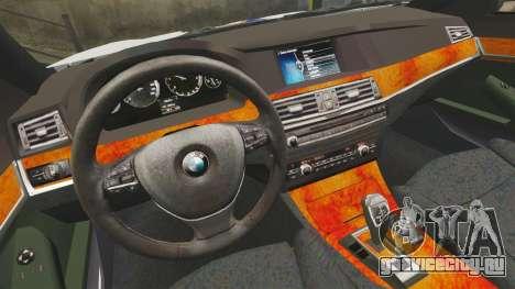 BMW M5 Croatian Police [ELS] для GTA 4 вид изнутри