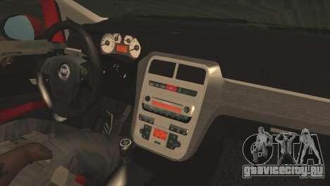 Fiat Grande Punto для GTA San Andreas вид справа