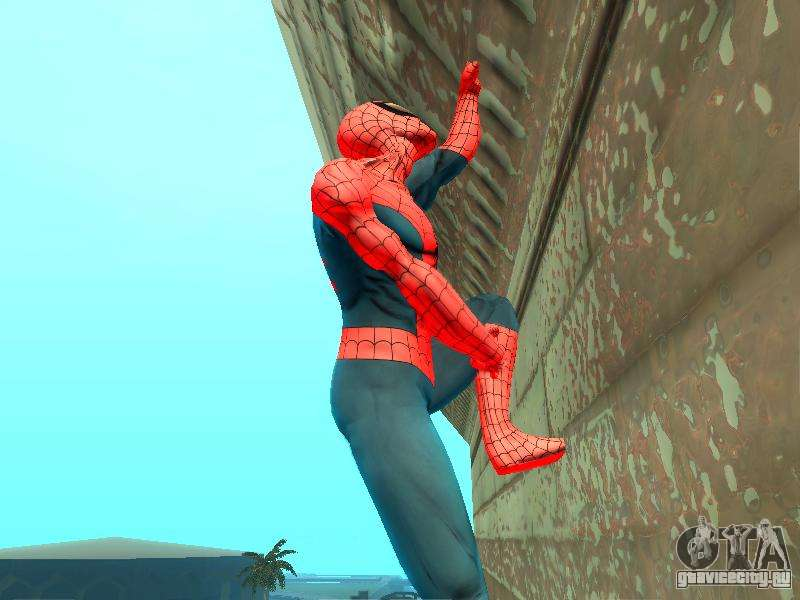 скачать мод на гта сан андреас человек паук летит на паутине