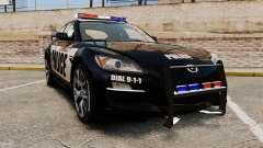 Mazda RX-8 R3 2011 Police для GTA 4