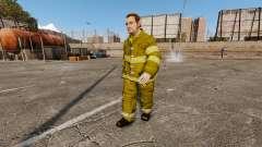 Жёлтая униформа у пожарников для GTA 4