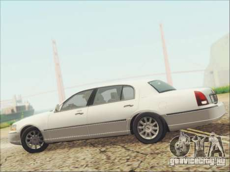 Lincoln Town Car 2010 для GTA San Andreas вид сверху