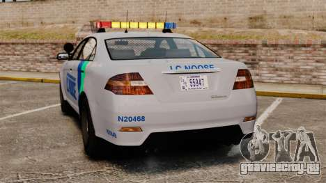 GTA V Vapid Police Stanier Interceptor [ELS] для GTA 4 вид сзади слева