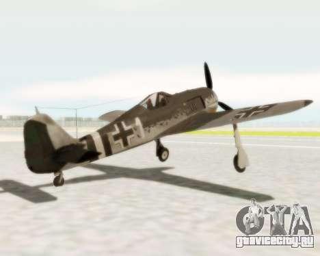 Focke-Wulf FW-190 A5 для GTA San Andreas вид сзади слева
